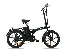 36V版大容量リチウムバッテリー搭載 モペット型電動自転車ボニータ20(BONITA-20)20インチ 折り畳み可能 6段変速と液晶表示板追加
