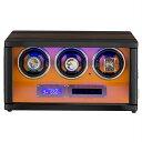 HOKUTO ワインディングマシーン 腕時計自動巻き器 ウォッチワインダー 3本巻き上げLEDライト付き腕時計 自動巻き ワインディングマシン…