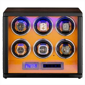 HOKUTO|ワインディングマシーン(ワインダー)6本|腕時計自動巻き器|プレゼント|誕生日 父の日|母の日|プレゼント