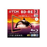 ★BEV25PWA3A  TDK 繰り返し録画用 BD-RE 25GB 2倍速対応 ホワイト プリンタブル 3枚 10mmPケース