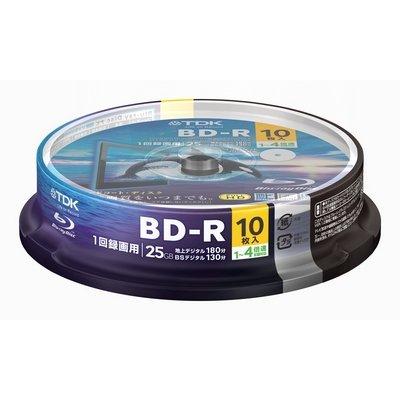 【送料無料】★BRV25PWB10PA TDK ブルーレイ 1回録画用 (BD-R 4倍速)10枚入