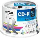 ★CD-R80CRMX50PE TDK データ用CD-R 700MB 48倍速対応 カラーリング5色ミックスディスク 50枚スピンドル