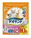 【ユニチャーム】猫砂 デオサンド複数猫用 紙砂 (容量:10L)