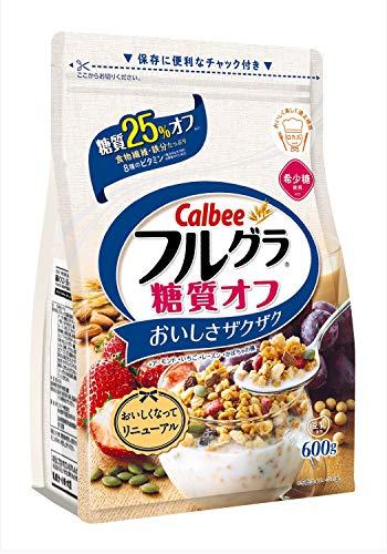 1ケース【送料無料】 カルビー フルグラ 糖質オフ 25% 600g×6袋