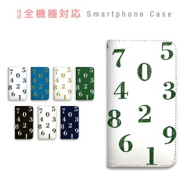 AQUOS CRYSTAL 2 403SH ケース 手帳型 スマホケース ベルトなし マグネット カバー カード収納 数字 シンプル ユニーク 個性的 おもしろ 携帯カバー SoftBank AQUOS sczpb-120