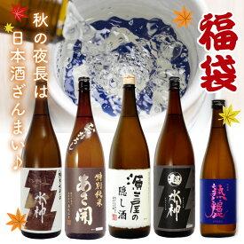 日本酒セット 限定福袋【純米ざんまい】5本セット 送料無料