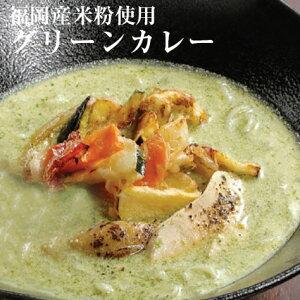 グリーンカレー 2食入 中辛 小麦不使用 グルテンフリー レトルト 福岡県産 メール便
