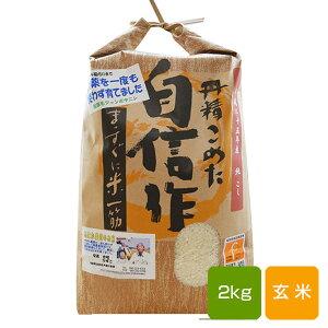 【新米】無農薬玄米 2kg コシヒカリ福岡県産 令和元年産 送料無料