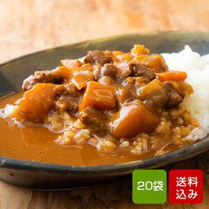 宮崎県産牛100% ビーフカレー 200g×20食 国産 レトルト カレー 常温保存