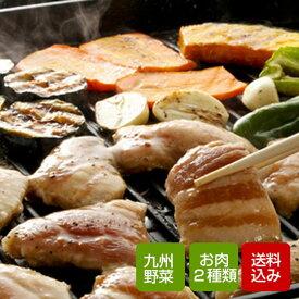 バーベキューセット 九州野菜とお肉3種類入り クール便 送料無料
