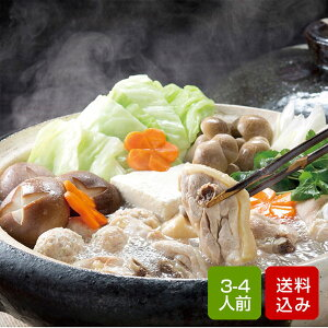 水炊き 鍋 九州野菜付き 3-4人前 鍋セット はかた一番どり 鍋パーティー お歳暮 ギフト