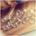 【10個】ガラスドーム //変わったカタチのガラスドーム// 全11種類 ガラスボール/レジン/素材/材料/ピアス/アクセ…