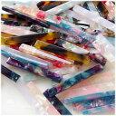 【10個】アクリルパーツ バー スティック 棒/プラスチックパーツ/プラチャーム/べっ甲風/べっこう風/カラフル/セルロ…
