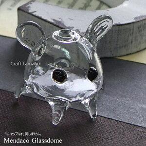 【1個】ガラスドーム //Craft Tamagoオリジナル// メンダコ?のガラスドーム めんだこ 深海生物 生き物 タコ たこ 宇宙人 夏 マリン ガラス細工 水族館 オクトパス 資材 アクセサリーパーツ 手作