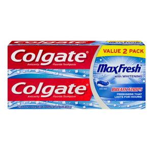 【ポイント5倍】 コルゲート Colgate マックスフレッシュ ホワイトニング クールミント 歯磨き粉 170g 【お得な 2本セット】 アメリカ