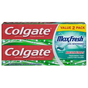 【ポイント5倍】 コルゲート Colgate マックスフレッシュ ホワイトニング クリーンミント 歯磨き粉 170g 【お得な 2本セット】 アメリカ