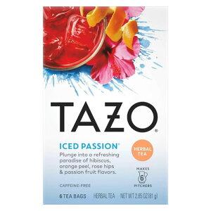 【ポイント10倍】 タゾ Tazo アイス パッション ハーブティー ティーバッグ 6回分 (48杯分) ハーブティー アメリカ