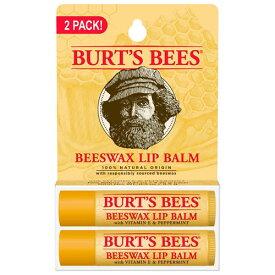 【ポイント5倍】 バーツビーズ ビーズワックス リップバーム 4.25g x 2個 BURT'S BEES BEESWAX LIPアメリカ