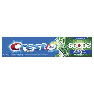 【ポイント5倍】 クレスト Crest + スコープ アウトラスト コンプリート ホワイトニング ミント 歯磨き粉 153g アメリカ