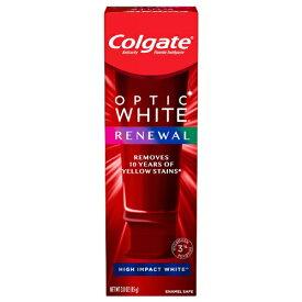 【最新版】コルゲート Colgate オプティックホワイト リニュー ホワイトニング 歯磨き粉 ハイインパクト ホワイト 85g Optic White Renewal High Impact White