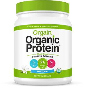 【ポイント10倍】【送料無料】 オーゲイン USDA 認証 オーガニック 食物性 プロテイン パウダー バニラビーンズ味 462g Orgain サプリメント ビタミン アメリカ