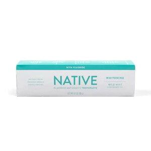 【ポイント5倍】 ネイティブ Native ホワイトニング フロライド ワイルドミント&ペパーミント 歯磨き粉 アメリカ