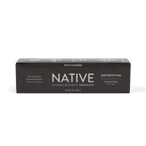 【ポイント5倍】 ネイティブ Native チャコール ミント フロライド 歯磨き粉 アメリカ