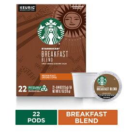 【ポイント5倍】【送料無料】 キューリグ K-CUP(Kカップ) スターバックス ブレックファーストブレンド ミディアムロースト コーヒー 22個入 Starbucks アメリカ