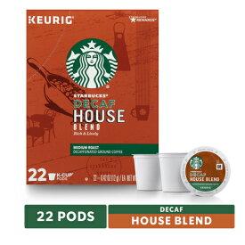 【ポイント5倍】【送料無料】 キューリグ K-CUP(Kカップ) スターバックス カフェインレス ハウスブレンド ミディアムロースト コーヒー 22個入 Starbucks アメリカ ディカフェ
