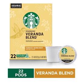 【ポイント10倍】【送料無料】 キューリグ K-CUP(Kカップ) スターバックス ベランダ ブレンド ブロンド ライトロースト コーヒー 22個入 Starbucks アメリカ