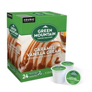 【ポイント5倍】 キューリグ K-CUP(Kカップ) グリーンマウンテン キャラメル バニラ ライトロースト コーヒー 24個入 Green Mountain アメリカ