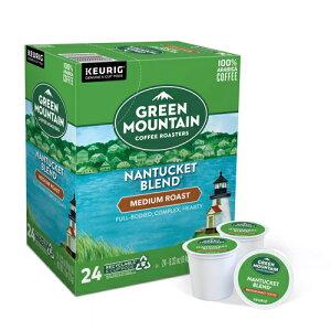 【送料無料】【ポイント5倍】 キューリグ K-CUP(Kカップ) グリーンマウンテン ナンタッケブレンド ミディアムロースト コーヒー 24個入 Green Mountain アメリカ