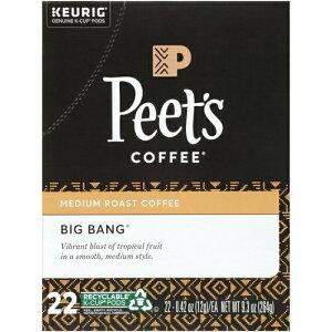 【ポイント5倍】【送料無料】 キューリグ K-CUP(Kカップ) ピーツコーヒー ビッグバンブレンド ミディアムロースト コーヒー 22個入 Peet's アメリカ