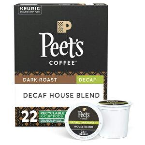 【ポイント5倍】【送料無料】 キューリグ K-CUP(Kカップ) ピーツコーヒー カフェインレス ハウスブレンド ダークロースト コーヒー 22個入 Peet's アメリカ