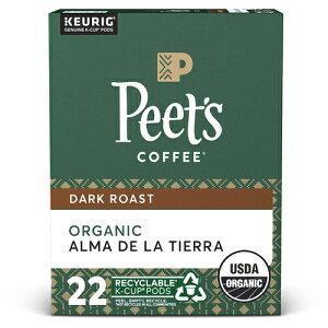 【ポイント5倍】【送料無料】 キューリグ K-CUP(Kカップ) ピーツコーヒー オーガニック アルマデラティエラ ダークロースト コーヒー 22個入 Peet's アメリカ