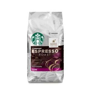 【ポイント5倍】 コーヒー コーヒー豆 スターバックス Starbucks エスプレッソロースト ダークロースト グラウンドコーヒー(挽き豆) 340g