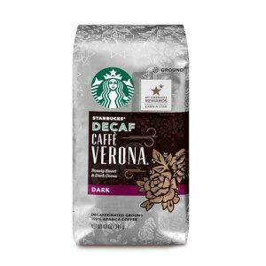 【ポイント5倍】 スターバックス Starbucks カフェインレス カフェベロナ ダークロースト グラウンドコーヒー(挽き豆) 340g コーヒー コーヒー豆 アメリカ