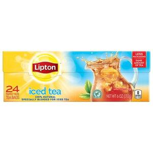 【ポイント5倍】 送料無料 紅茶 ティー アメリカ リプトン Lipton ファミリーサイズ 無糖 アイスティー ティーバッグ 24個入