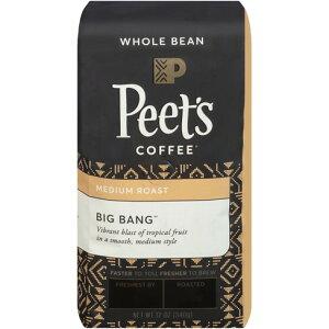 【ポイント5倍】 ピーツコーヒー Peet's Coffee ビッグバンブレンド ミディアムロースト ホールビーン(コーヒー豆) 297g コーヒー コーヒー豆 アメリカ