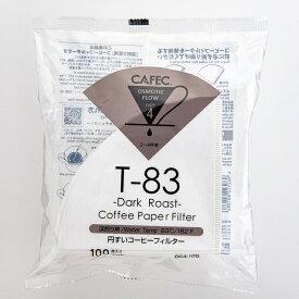 三洋産業 CAFEC カフェック 深煎り用 DC4-100 円すい コーヒーフィルター〈2杯用〜4杯用〉ホワイト(100枚入) ORIGAMI ドリッパーSサイズにも 日本製 MADE IN JAPAN