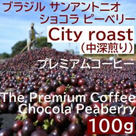 中深煎り ブラジル サンアントニオ  ショコラ ピーベリー 100g コーヒー豆 プレミアムコーヒー