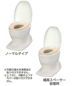 アロン化成 安寿 腰掛便座 簡易設置型洋式トイレ サニタリエース OD ソフト便座 据置式 ノーマルタイプ 介護商品 533-423 アイボリー