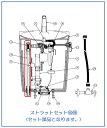 アサヒ衛陶 ストラットセット CF3388STRTS [TRA33886/33856/33056/33086用] トイレタンク(ロータンク)部品