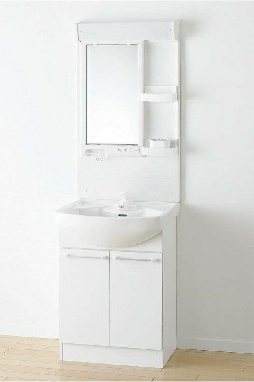 アサヒ衛陶 洗面化粧台 Kシリーズ 間口600mm 一面鏡 2枚扉 シングルレバー混合栓 LK3610KRFE1TSH シンプルデザインで、充実機能をさらにお求めやすく
