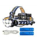 P10倍 25日まで LEDヘッドライト 12000ルーメン USB充電式 軽量 防水 8点灯モード 作業灯 防災 登山 釣り ランニン…