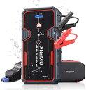 ジャンプスターター 車用 エンジンスターター ジャンプ スターター モバイルバッテリー ポータブル電源 2000A 12V 200…