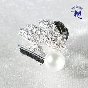 母の日ギフト 無料ラッピング 真珠 ブローチ パールブローチ パール 盆栽あこや真珠 本真珠 和玉 7mm ピンブローチ タックピン モチーフ シルバー PEARL BONSAI PINBROOCH 高品質 プレゼント ギフト