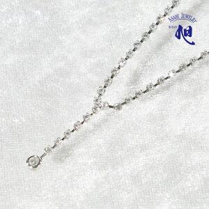 ダイヤモンド デザイン ネックレス セット プラチナ 1ct 56cmY字タイプ PLATINUM DIAMOND NECKLACE スライド式 ギフト プレゼント 入学式 卒業式 誕生日 記念日 6月 誕生石 レディース 高品質 送料無料
