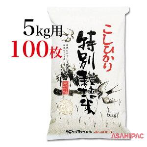 米袋 和紙・雲竜柄 ふるさと特別栽培米こしひかり5kg用×100枚
