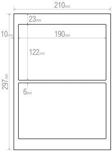 販促品 シール 米袋ラベルA4シート2面×100シート